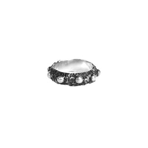 DRAUG Jewelry 925 Solid Silver Rosary Ring