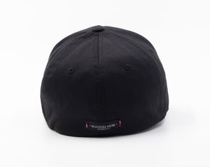 'La Vie En Noir' White on Black Baseball Cap