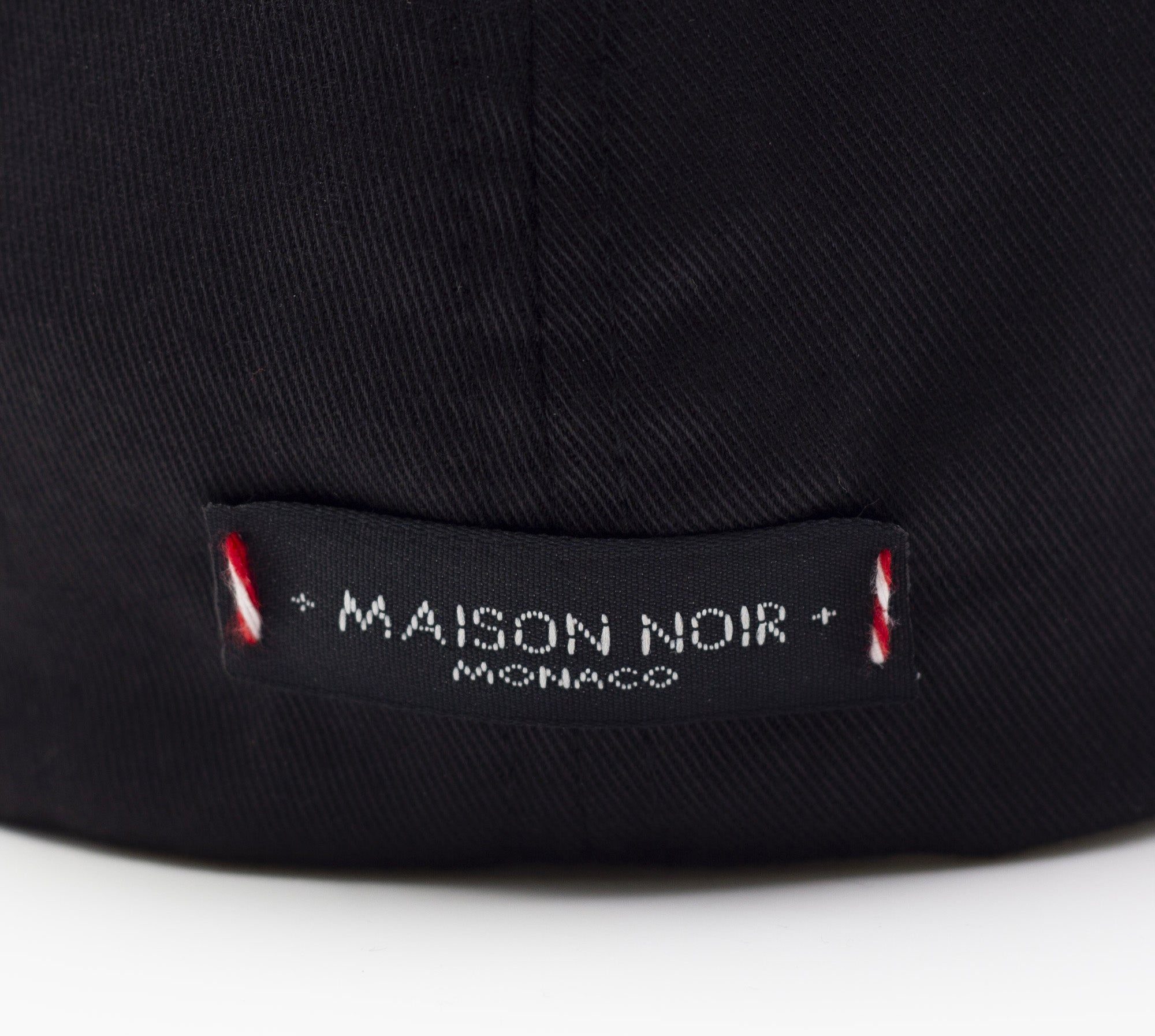 'Maison Noir' White on Black Baseball Cap