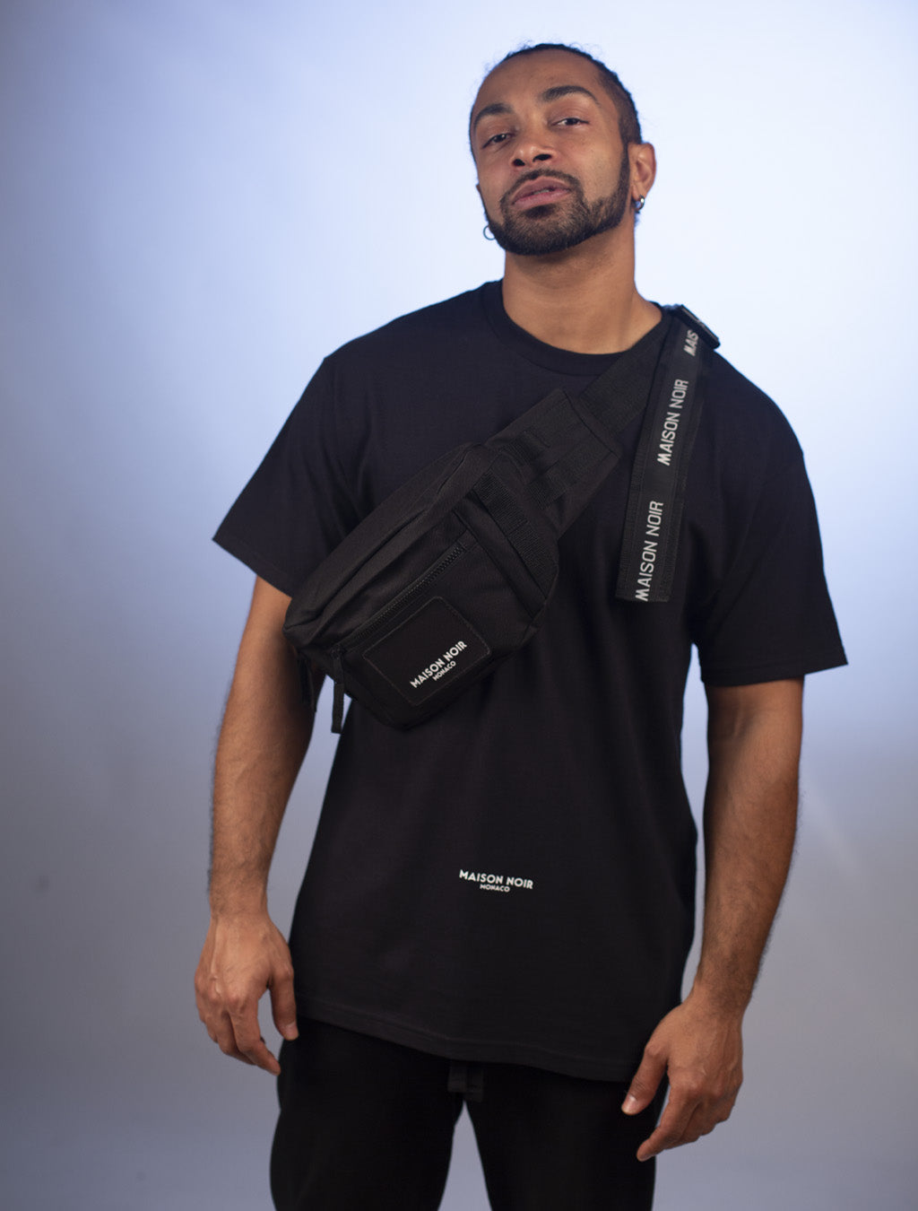 Custom Branded Stripe Tactical MOLLE Waist Pack Black