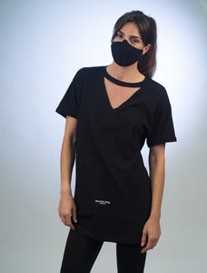 Custom Cut Classic Signature Long Body T-Shirt Black