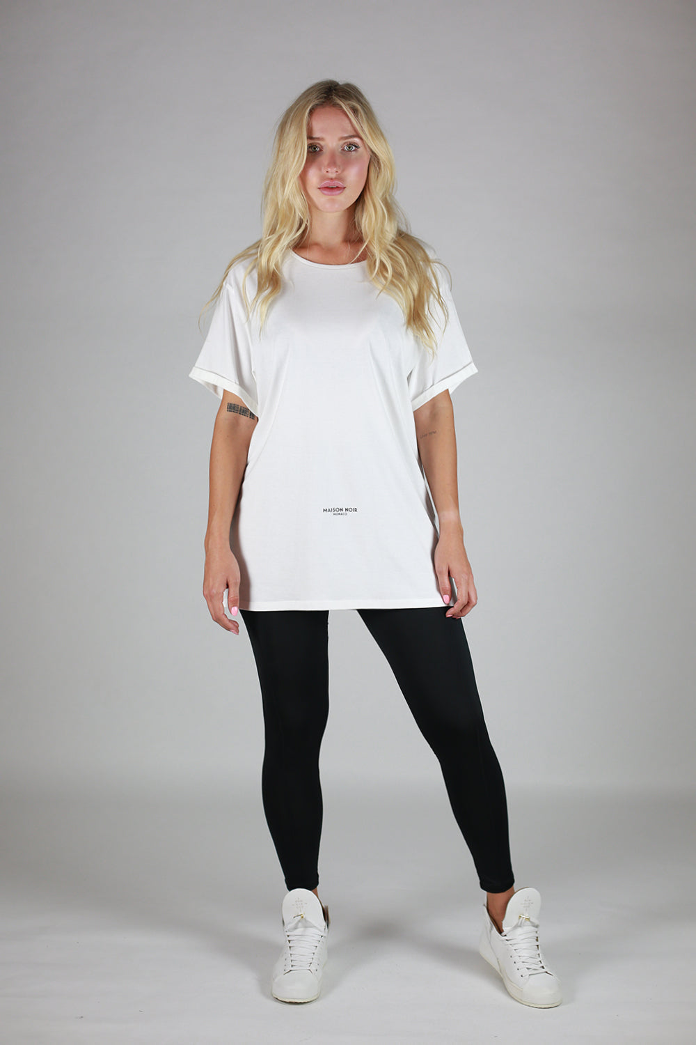 Classic Signature Boatneck Relaxed Fit Tee White