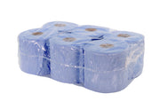 Blue Paper Towel Roll (x6) 2 Ply - 19cm x 19cm