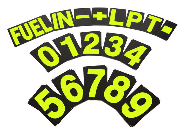 Standard Pit Board Number Set