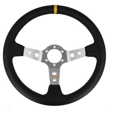Dished Leather Steering Wheel (90mm)