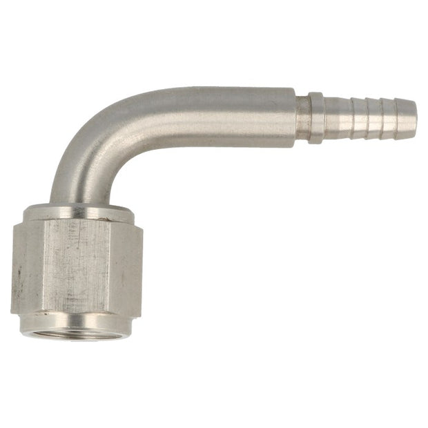 Hose End Concave Crimp Female 90° - Stainless Steel