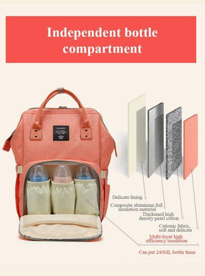 LEQUEEN Multifunctional Mommy Bag