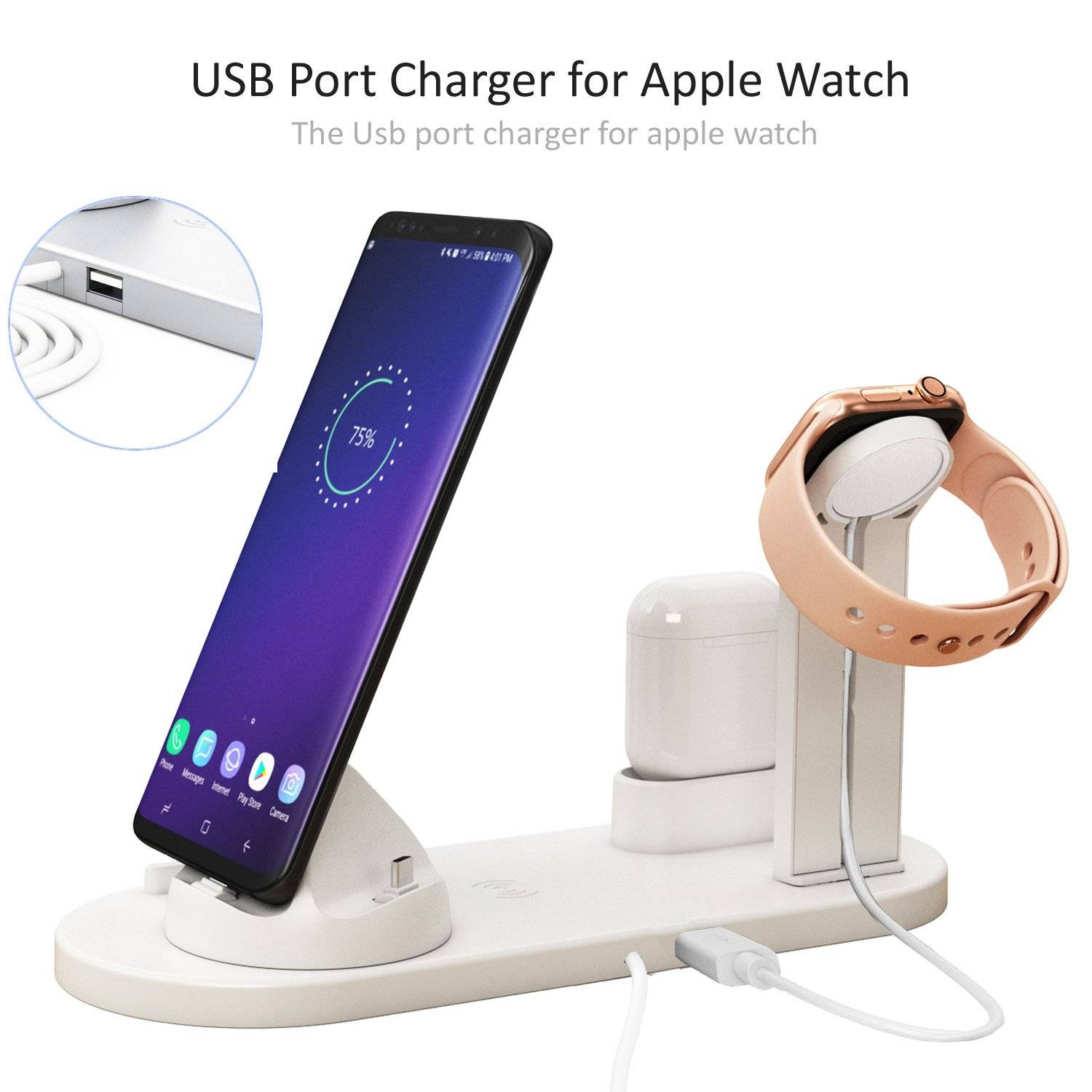 2nd Generation 3 in 1 Mobile Phone Wireless Charger Dock