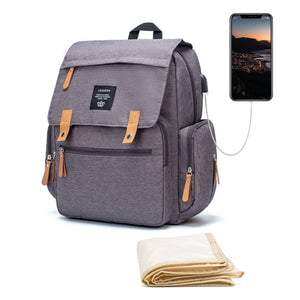 LEQUEEN Diaper Bag With USB Charging Port