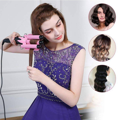 Curling Iron with 3 Barrels