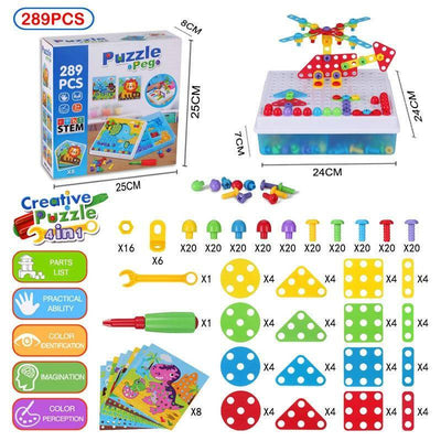 3D Creative Drilling Mosaic Puzzle Toy