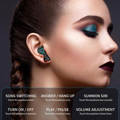 LED Display V5.1 Bluetooth Wireless Earbuds With Microphone