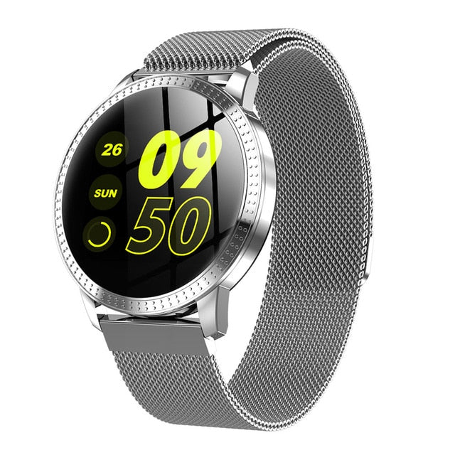 RUNDOING CF18 Unisex Heart Rate Blood Pressure Smart Watch