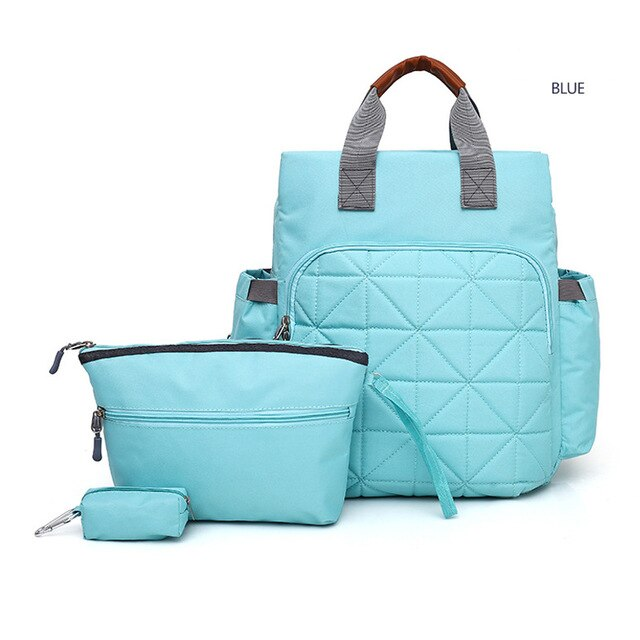 3 pcs Set Diaper Bag Fashionable Mommy Backpack