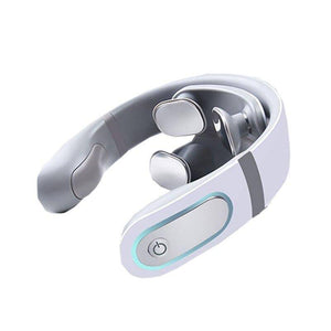 Intelligent 3D 4-Head USB Magnetic-Pulse Neck Massager