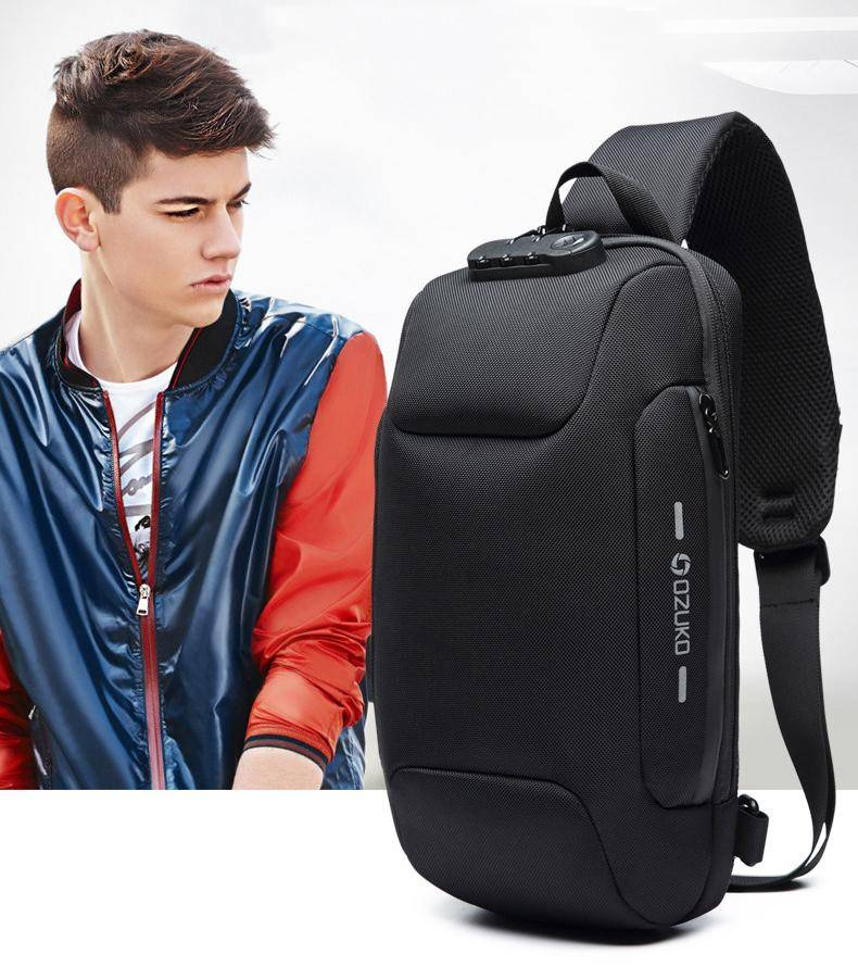 OZUKO Crossbody Bag for Men