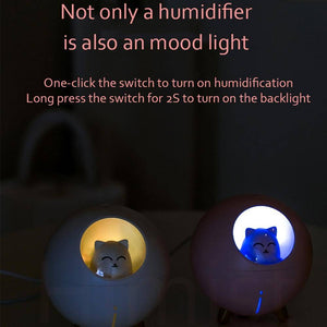 Lovely 220ml Ultrasonic Romantic Color LED Pet Air Humidifier