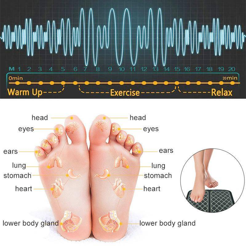 Electric Foot Stimulator Massager 6 Modes 10 Gears Full Automatic Massage Foot Circulation