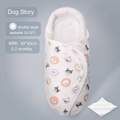 Sleeping Bag For Newborn - Baby Cotton Swaddle Blanket
