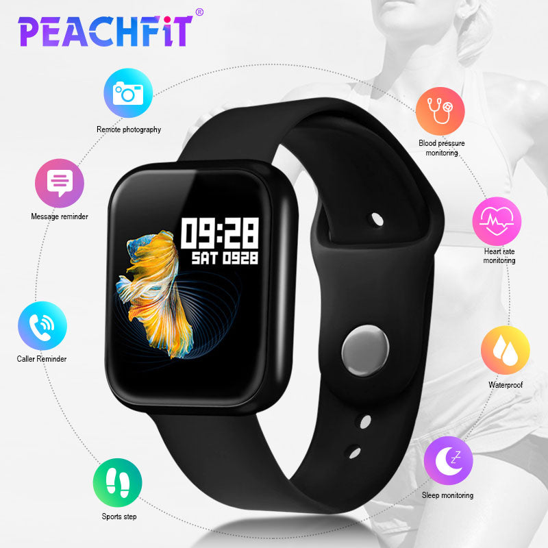 PEACHFIT P70 Heart Rate Blood Pressure Smart Watch