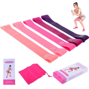 5 Elastic Yoga Pull Hip Resistance Bands Set
