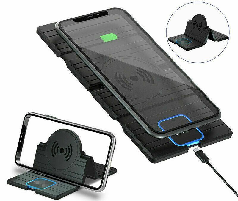 QI Wireless Car Phone Charger - Fast Charging Foldable Pad