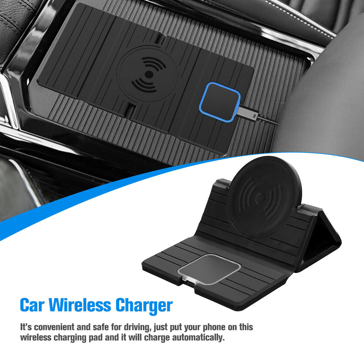QI wireless Car phone charger fast charging pad Foldable Mat for samsung iPhone