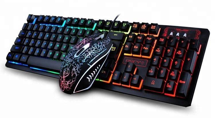 LED Flame Gaming Keyboard And Mouse Set