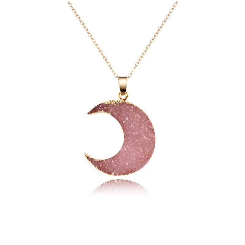 Collier Lune<br> ''Rose''