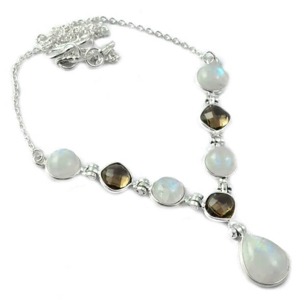 Collier Pierre de Lune et Quartz Chandra