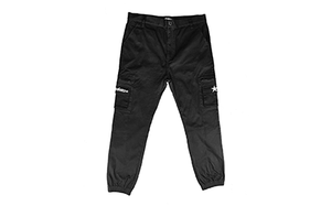 GOT NO FEARS CARGO PANTS BLACK [GNF024]