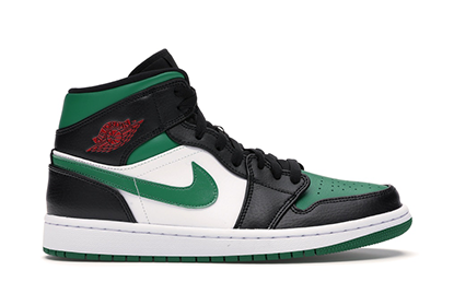 AIR JORDAN 1 MID BLACK PINE GREEN [554724 067]