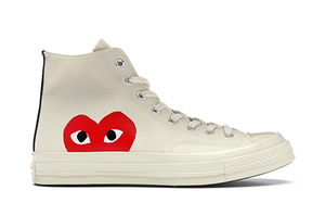 CONVERSE CHUCK 70 HIGH CDG PLAY WHITE [150205C]
