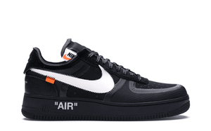 OFF WHITE THE 10: NIKE AIR FORCE 1 LOW BLACK [AO4606 001]