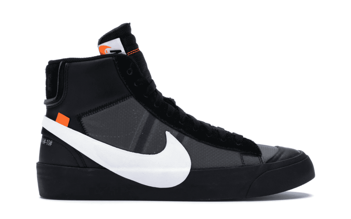 OFF WHITE THE 10: NIKE BLAZER MID BLACK [AA3832 001]