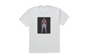 SUPREME TUPAC HOLOGRAM TEE GREY