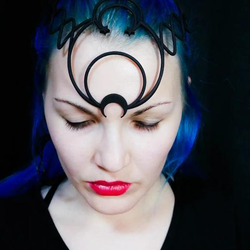 Dark Lady Circlet 3d printed