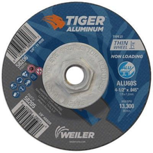 "Load image into Gallery viewer, Weiler 58206 Tiger Aluminum Cutting Wheel w/Hub- 4 1/2""X.045"" Type 27"