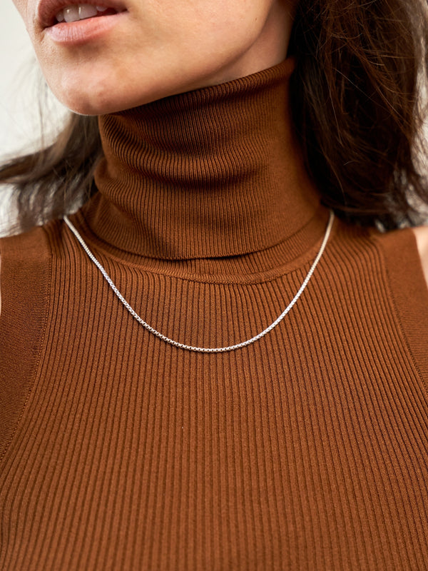 SIMPLE BOLD NECKLACE SILVER-eios jewelry