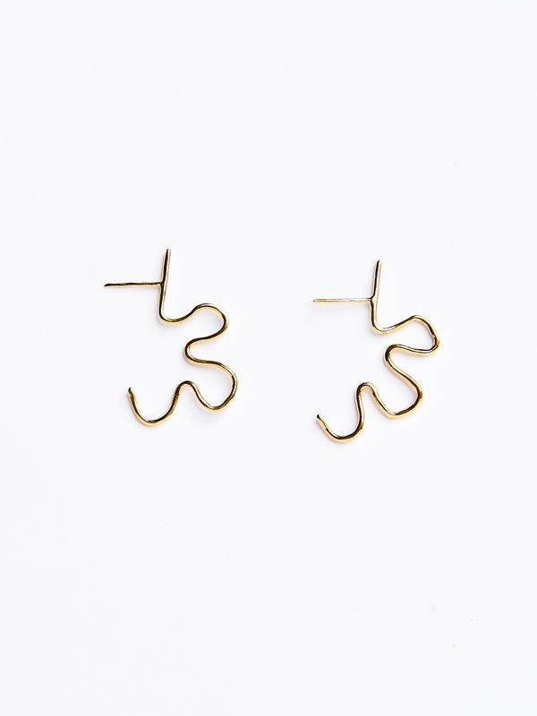 CORNELIA EARRINGS GOLD-eios jewelry