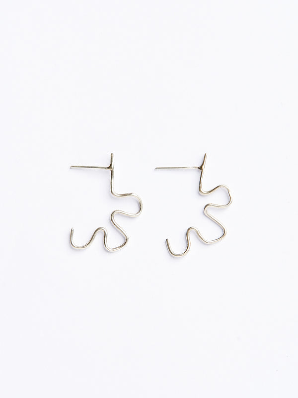 CORNELIA EARRINGS SILVER-eios jewelry