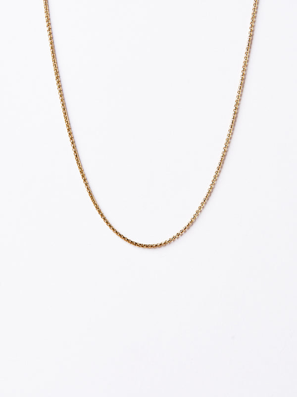 SIMPLE BOLD NECKLACE GOLD-eios jewelry
