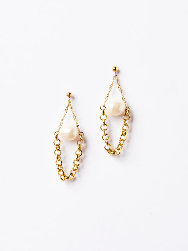 MOON EARRINGS GOLD-eios jewelry