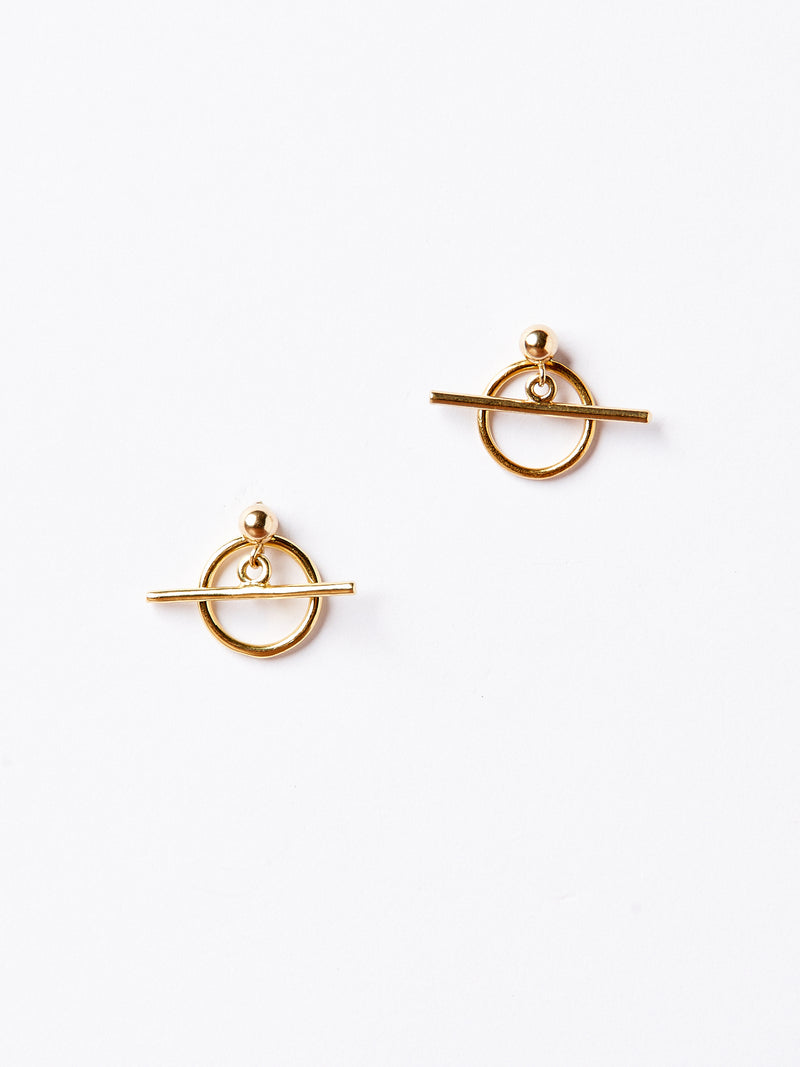 ALBUS EARRINGS GOLD-eios jewelry