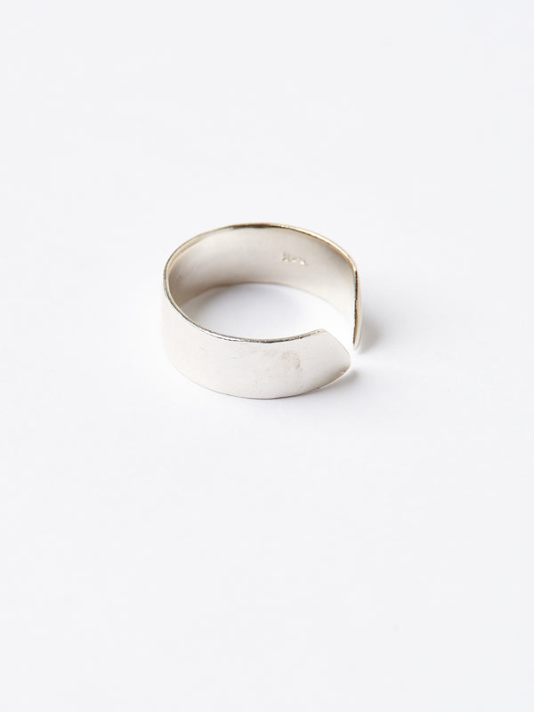 SLOPE MINI RING SILVER-eios jewelry