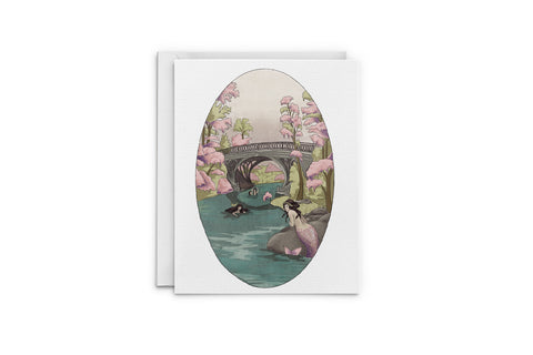 Mermaids At The Bridge Greeting Card