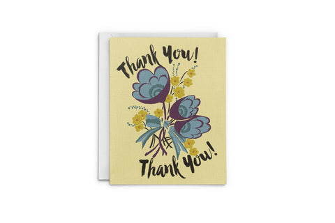 Bouquet Of Flowers Thank You Card