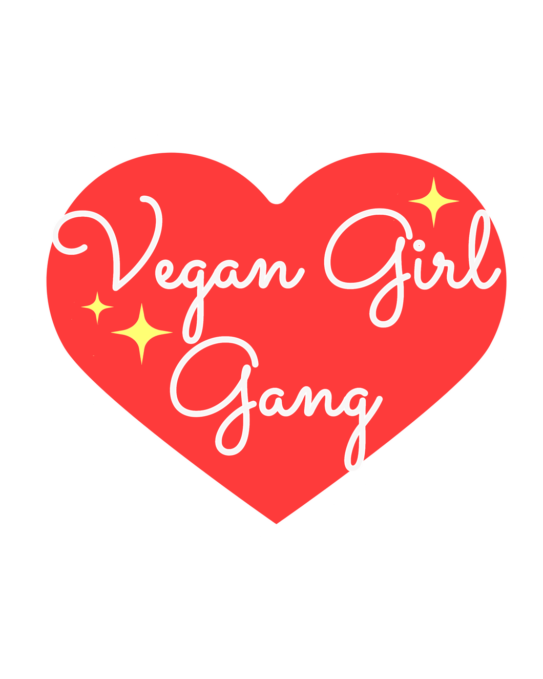 Vegan Girl Gang Logo Sticker in red