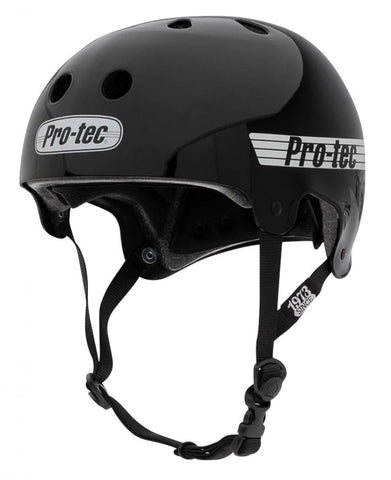 Pro-Tec Old School Certified Helmet (Gloss Black)