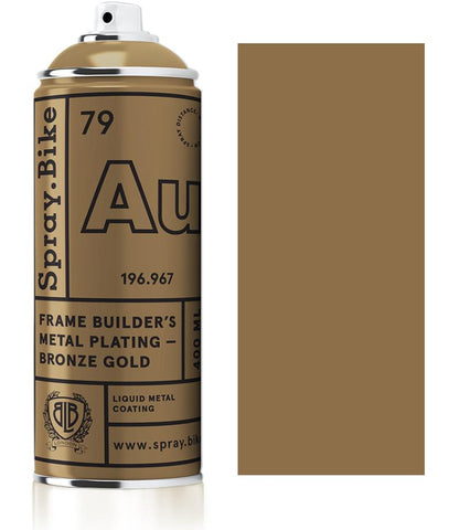 Spray.Bike Frame Builder's Metal Plating - Bronze Gold - 400ml